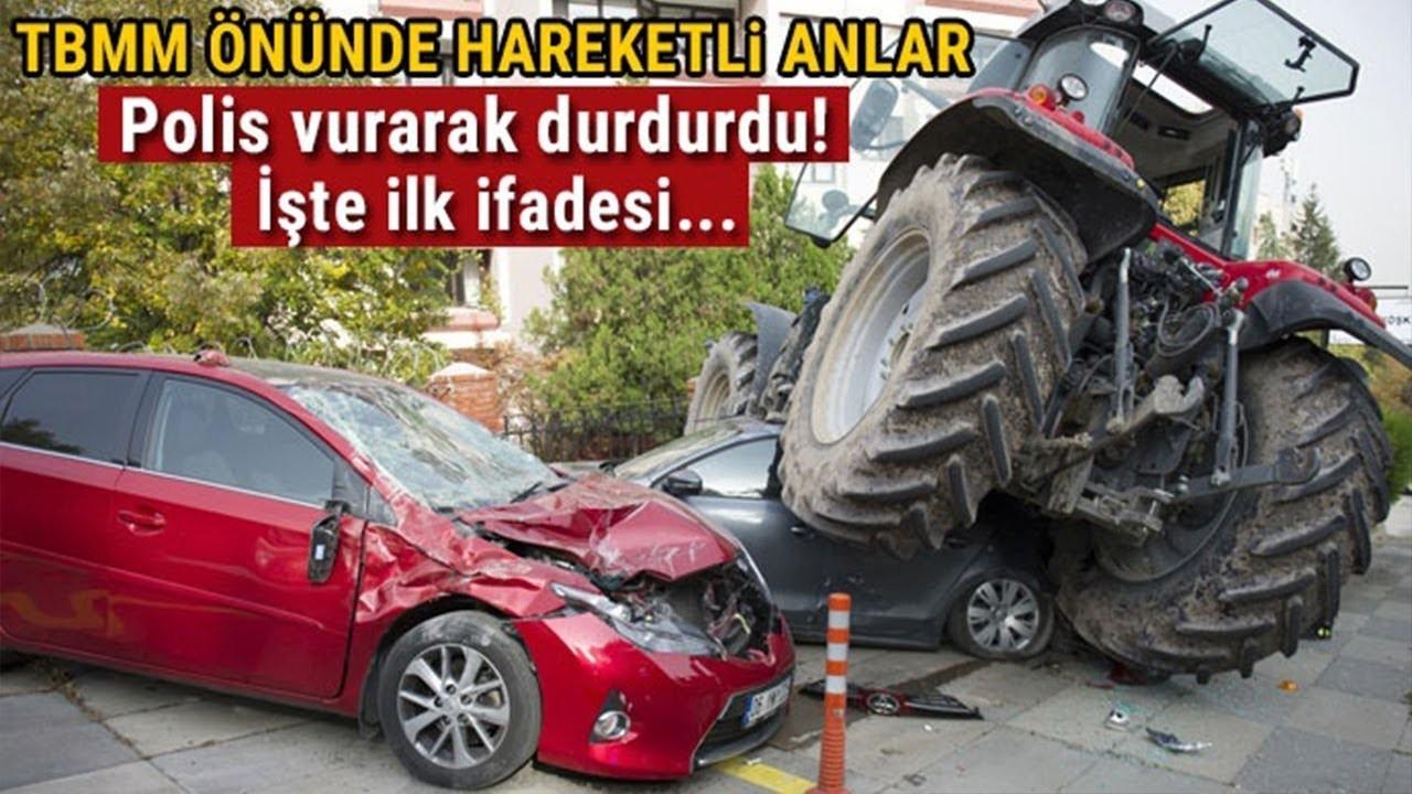 Ankarada Traktör ile İsrail Büyükelçiliğine Saldırmak İsteyen Şahıs Vurularak Durduruldu
